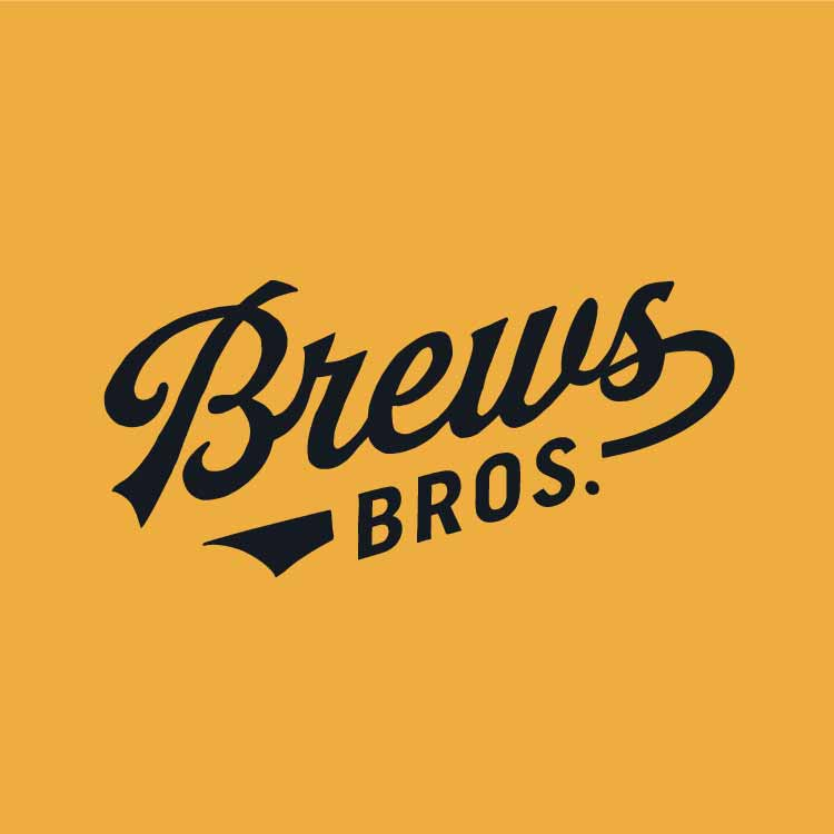 Brews Brothers script logo in Logo Lounge Book 11—by Hunter Oden of oden.house