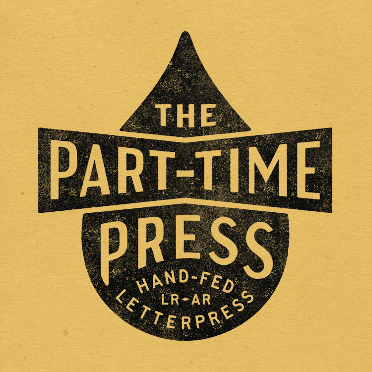 The Part-Time Press Letterpress Printing in Little Rock logo—by Hunter Oden of oden.house