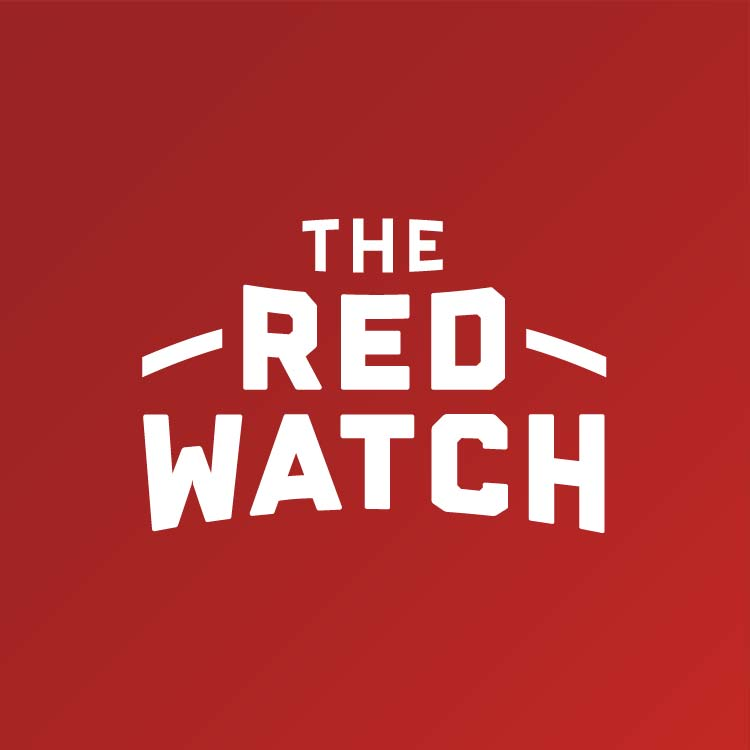 Logotype for The Red Watch, a Little Rock Rangers Soccer Support Group—by Hunter Oden of oden.house