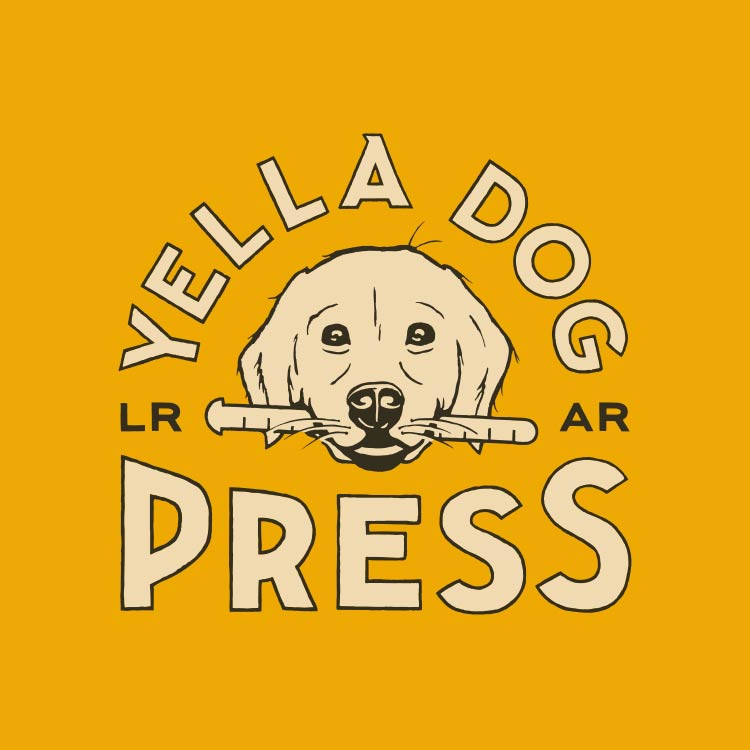 Yella Dog Press logo for Kate Askew, classicly trained letterpress printer—by Hunter Oden of oden.house