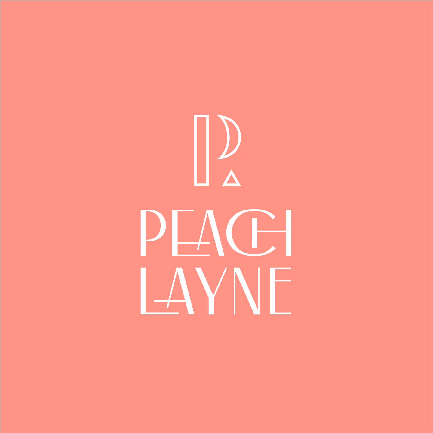 Peach Layne logo design by Hunter Oden of oden.house