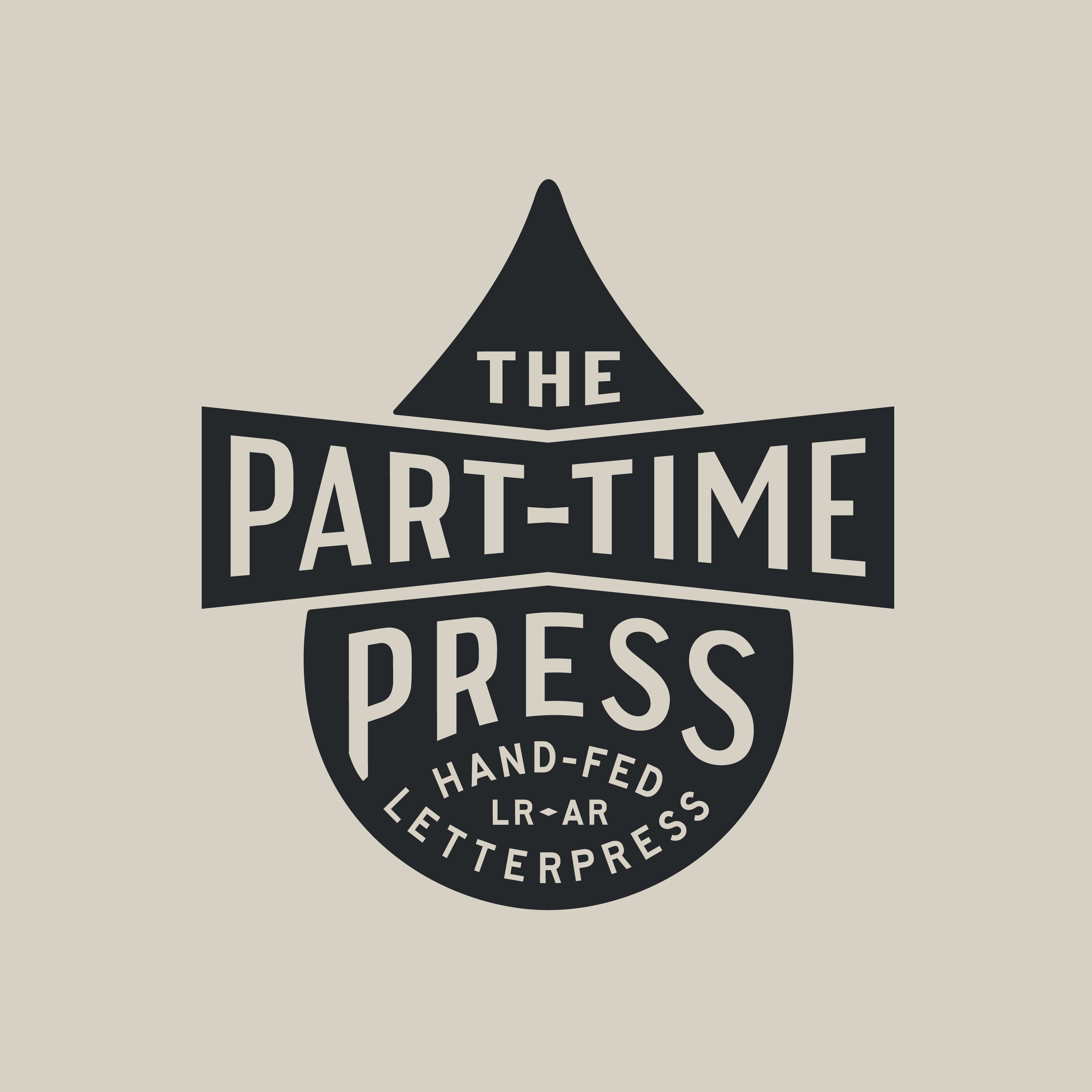The Part-Time Press logo design by Hunter Oden of oden.house