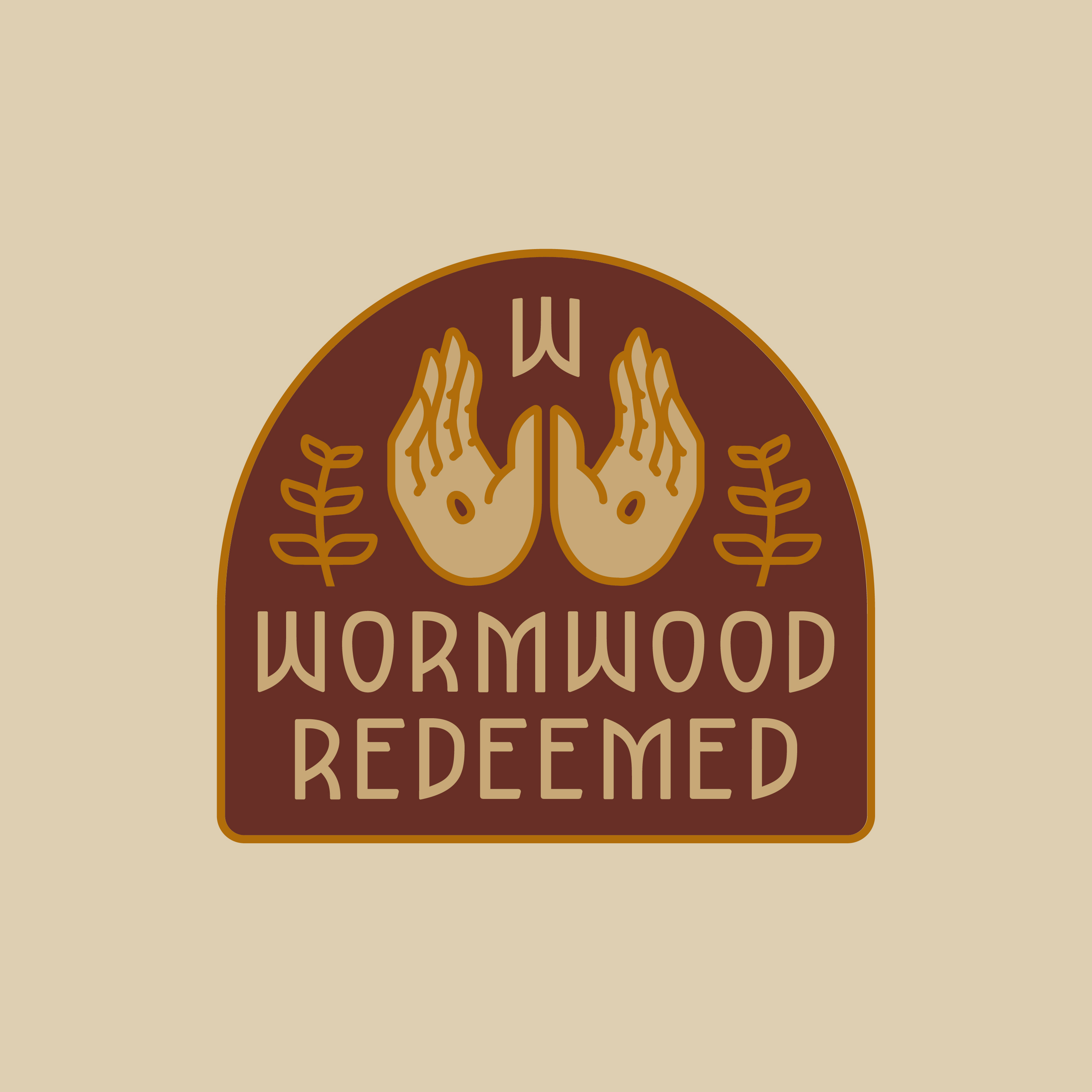 Wormwood Redeemed logo design by Hunter Oden of oden.house