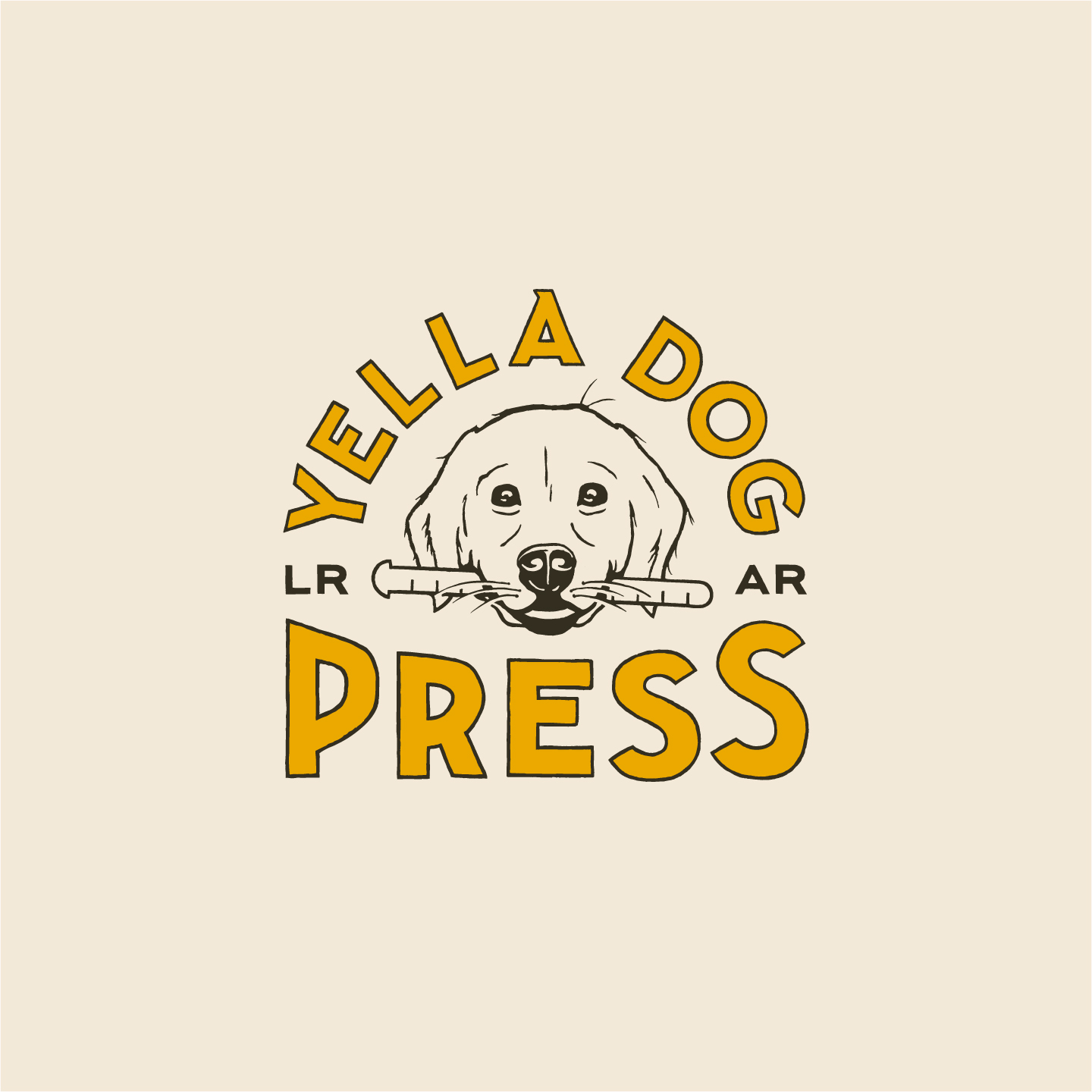 Yella Dog Press logo by Hunter Oden of oden.house