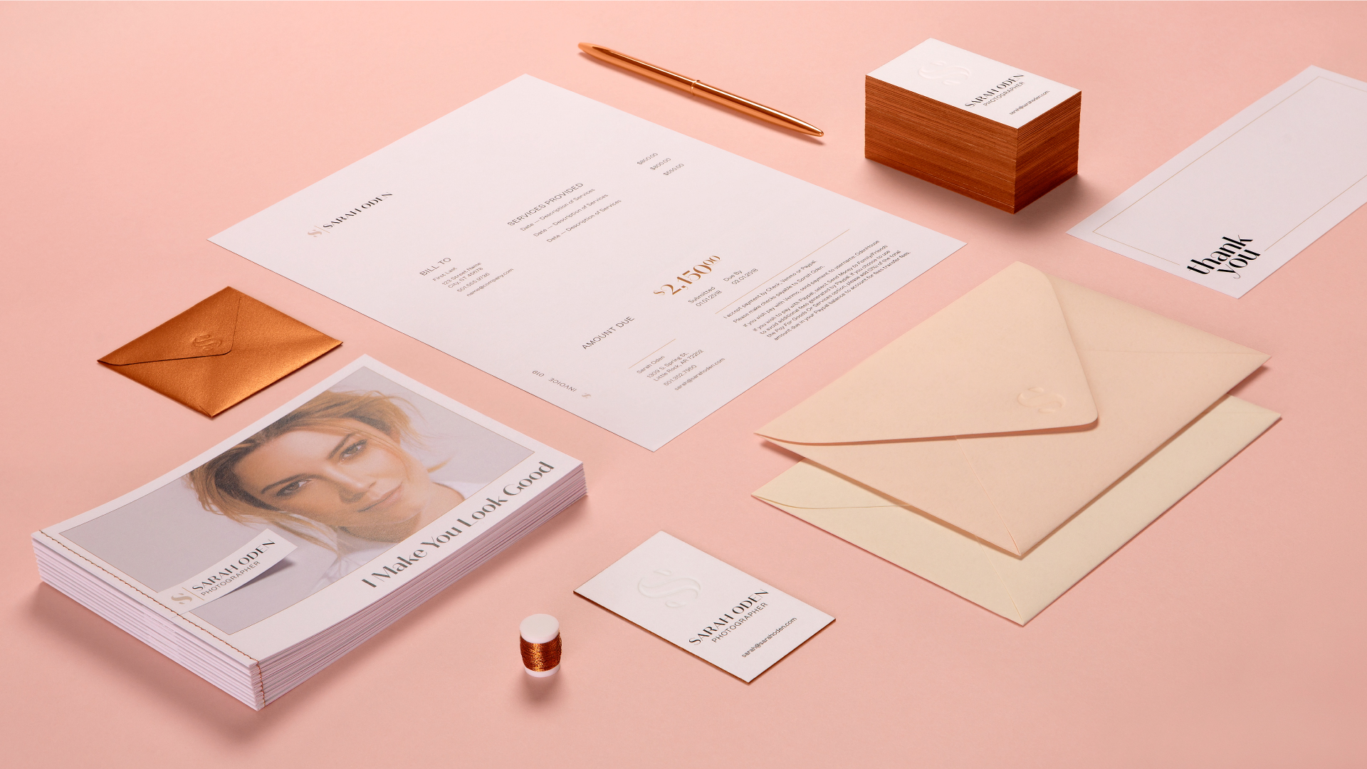 Sarah Oden Photographer Brand Identity Design Overview